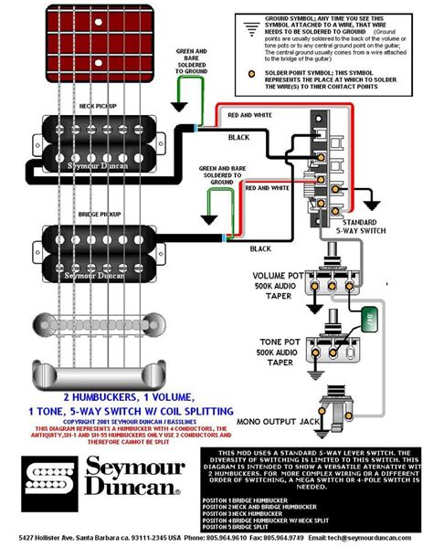 wiring diagram prs dimarzio seymour duncan guitars and guitar building