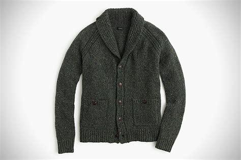 Mens Wool Shawl Collar Cardigan Sweater Long Sweater Jacket, Mens Shawl Sweaters
