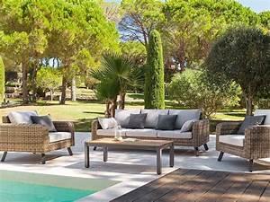 Salon Jardin Resine Tressée : salon de jardin en r sine tress e aura ~ Premium-room.com Idées de Décoration