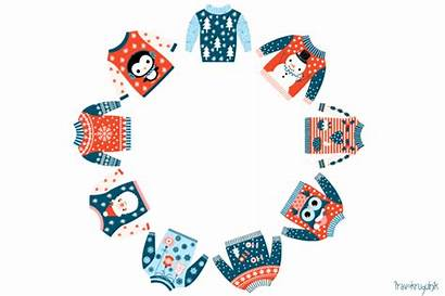 Sweater Ugly Christmas Clipart Holiday Winter Clip