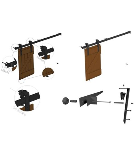 Kit Per Porta Scorrevole Esterno Muro by Kit Per Porta Scorrevole Esterno Muro Con Binario 2 Mt In