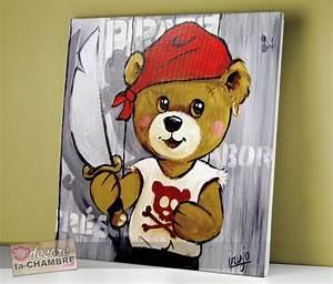 Tableau Deco Enfant : tableau ourson dco pirate pour chambre enfant vente tableaux nounours pirates dcoration bb ~ Teatrodelosmanantiales.com Idées de Décoration