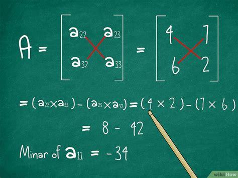 de determinant van een  matrix bepalen wikihow
