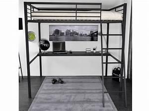 Lit à étage : lit double a etage lit 140x190 sommier literie ~ Teatrodelosmanantiales.com Idées de Décoration