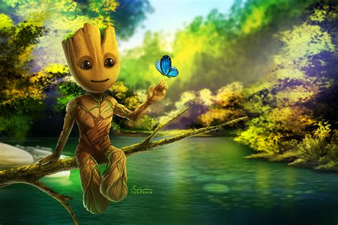 Guardians Of The Galaxy Hd Guardians Of The Galaxy Baby Groot Wallpaper Wallpaper Hd Gallery