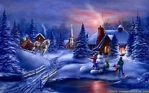 Wallpaper, Christmas, Scenes, U00b7, U2460, Wallpapertag