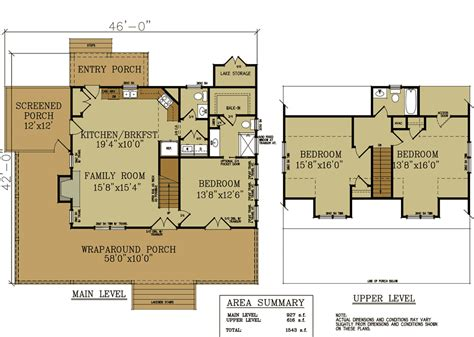 cottage floorplans 2 bedroom cabin with loft plan studio design gallery