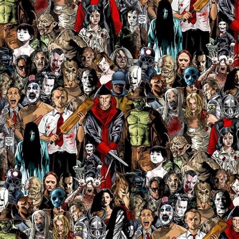 horror  villains pattern