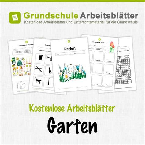 Der Garten Unterrichtsmaterial garten kostenlose arbeitsbl 228 tter