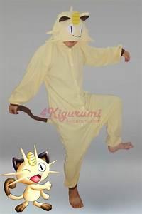 meowth onesie pokemon meowth costume kigurumi pajamas