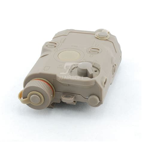 Peq 15 Battery Case With Red Laser Tan Jj Airsoft