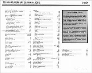 1985 Crown Victoria Grand Marquis Electrical Troubleshooting Manual Ford Mercury