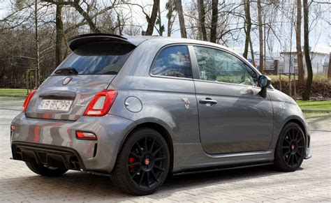 Fiat 500 Spoiler by Spoiler Extension Fiat 500 Abarth Mk1 Facelift Textured