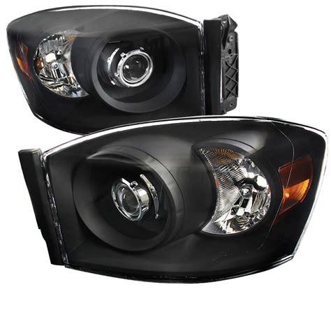 06 Dodge Ram 1500 by 06 08 Dodge Ram 1500 2500 3500 Projector Headlights Black