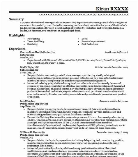 Interpreter Resume by Interpreter Sles Resumes Livecareer