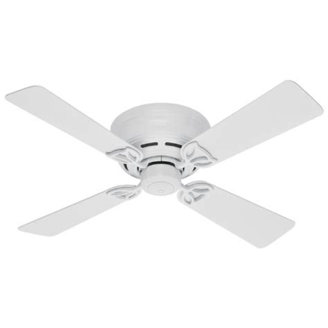 low profile white ceiling fan hunter 23866 low profile iii 42 inch indoor ceiling fan