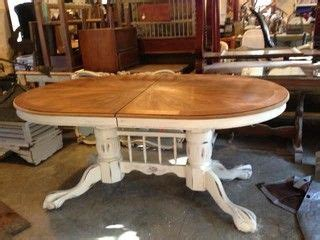 mahogany double claw foot upcycled dining table
