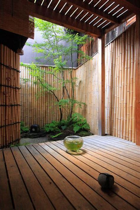 mix modern japanese courtyard  nature