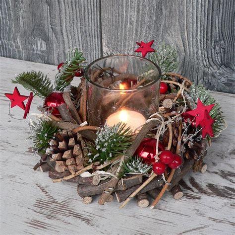 Holz Dekoration Weihnachten by Holzkranz Mit Deko Windlicht Advent Adventskranz