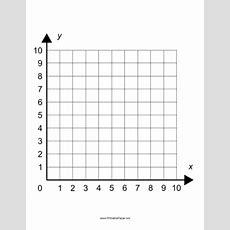 Printable Single Quadrant Cartesian Grid Large