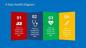 Flat Design Folded Vertical Panels With Health Clipart