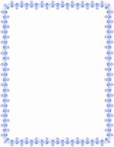 purple blue floral deco border - /page frames/floral