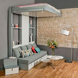 lits escamotables et lits mezzanines meubles gain de With meuble gain de place pour studio 1 lit gain de place et meuble pour amenagement petit espace