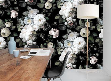 dark floral wallpaper brings  drama chicago tribune
