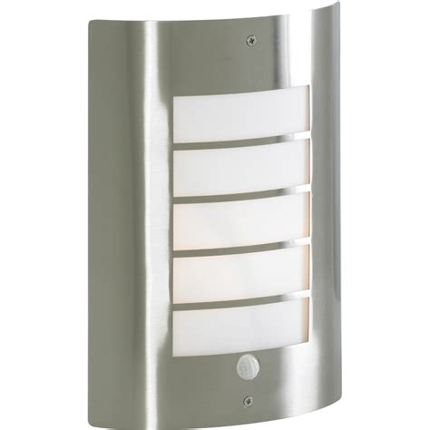 sigma slat panel wall light with pir toolstation