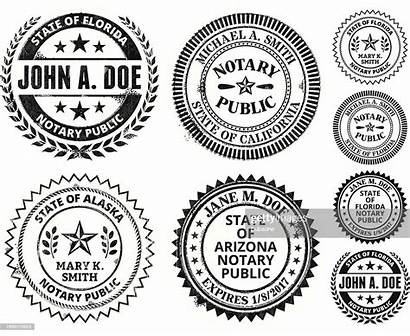 Notary Seal Vector Georgia Alabama Jersey Mexico