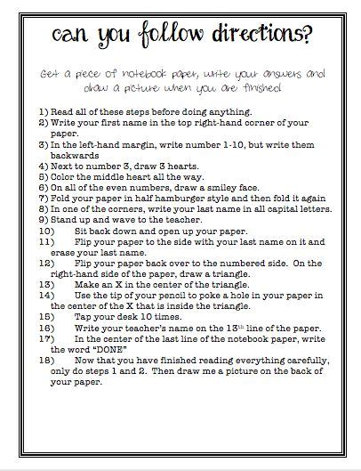 2nd grade following directions worksheets worksheets for