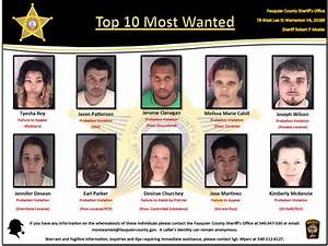 """Sheriff's office issues """"Top 10 Most Wanted"""" list"""
