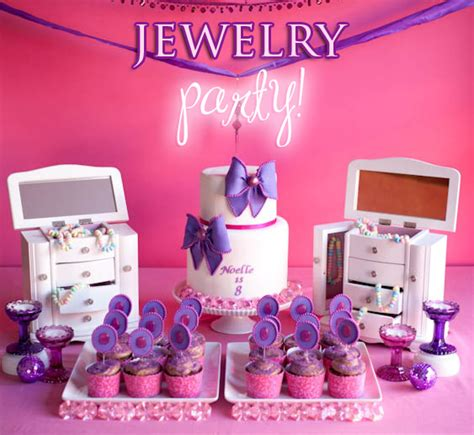 Cute Jewelry Themed 8th Birthday Party Pizzazzerie