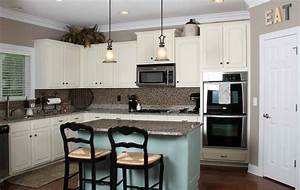 the mostly done kitchen home designer With best brand of paint for kitchen cabinets with amazing wall art ideas