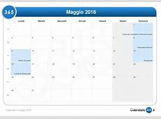 Calendario maggio 2016