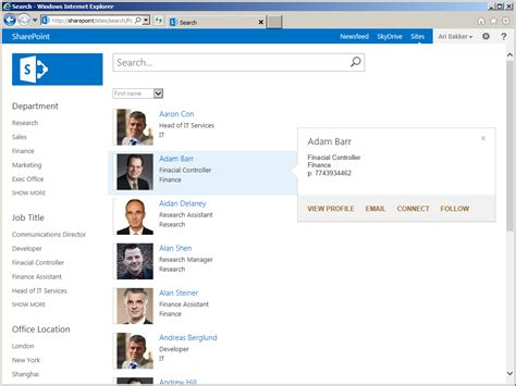 Sharepoint 2013 People Directory