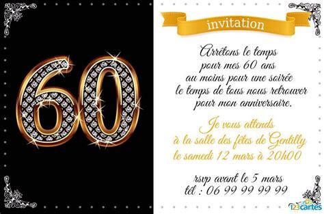 anniversaire de mariage 60 ans invitation faire part 60 ans mariage