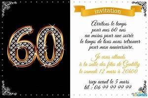 Faire Part Anniversaire 60 Ans : faire part 60 ans mariage ~ Edinachiropracticcenter.com Idées de Décoration
