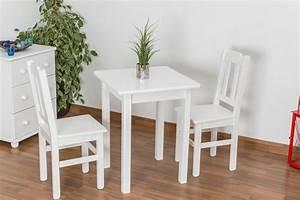 Weisser Tisch Und Stühle : wei er esstisch 60x60 cm kiefer farbe wei h he cm 75 l nge tiefe cm 60 breite cm 60 ~ Markanthonyermac.com Haus und Dekorationen