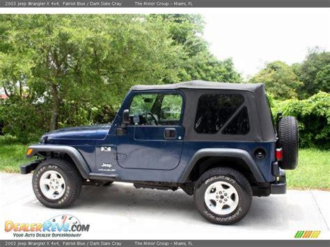 jeep dark blue 2003 jeep wrangler x 4x4 patriot blue dark slate gray