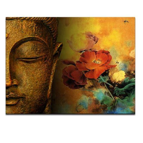 2018 modern buddha painting printing on canvas abstract