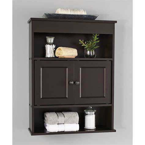 Bathroom Wall Cabinet by Chapter Bathroom Wall Cabinet Storage Shelf Espresso Ebay