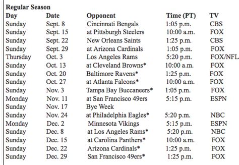 seahawks   schedule seattle seahawks