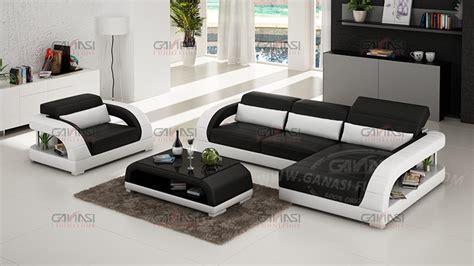 space saving design armrest modern leather european style