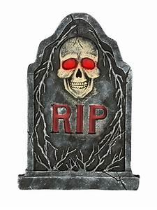 Halloween Deko Günstig Kaufen : skelett grabstein mit leuchtaugen halloween deko grau ~ Michelbontemps.com Haus und Dekorationen