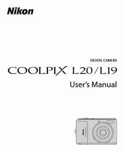 Nikon Coolpix L20 Manual  Camera Owner User Guide And