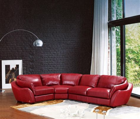 Red Sofa Living Room Ideas by Red Sectional Leather Sofa Italian Leather Sectional Sofa