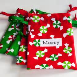 october 9 small christmas fabric gift bags