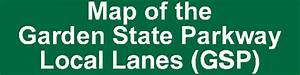 Map Of The Garden State Parkway Local Lanes  Gsp
