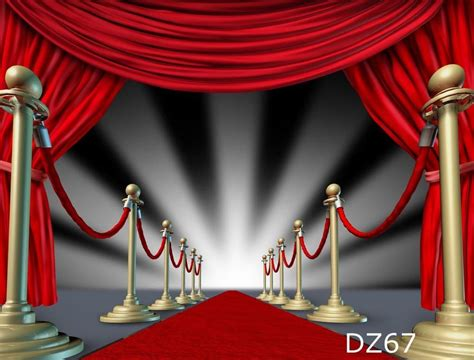 Red Carpet Photographers by Red Carpet Thin Vinyl Photography Studio Backdrop Photo